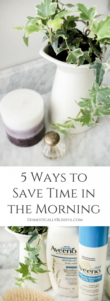 5 ways to save time in the morning by doing a few simple tasks the night before to prepare for a busy day & week.