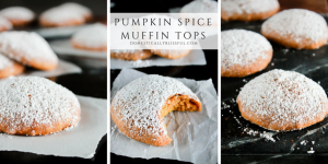 Pumpkin Spice Muffin Tops are an easy breakfast treat that fills your home with the delicious scent of fall! They are perfect for Thanksgiving brunch too!
