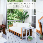 Outdoor Marble Side Table
