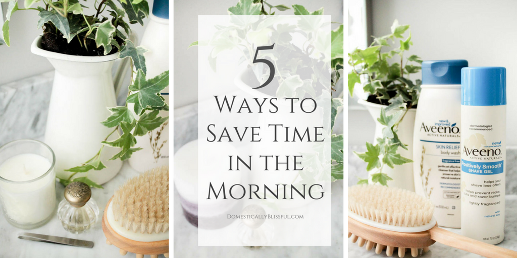 5 Ways to Save Time in the Morning