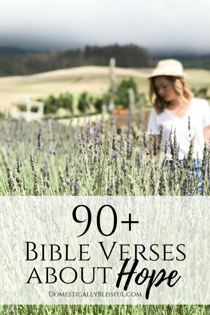 90+ Bible verses about hope to give you encouragement now & in the future in God's faithful promises.