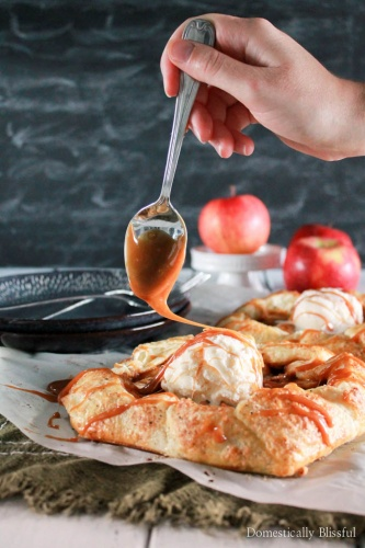 Easy Salted Caramel Apple Galette