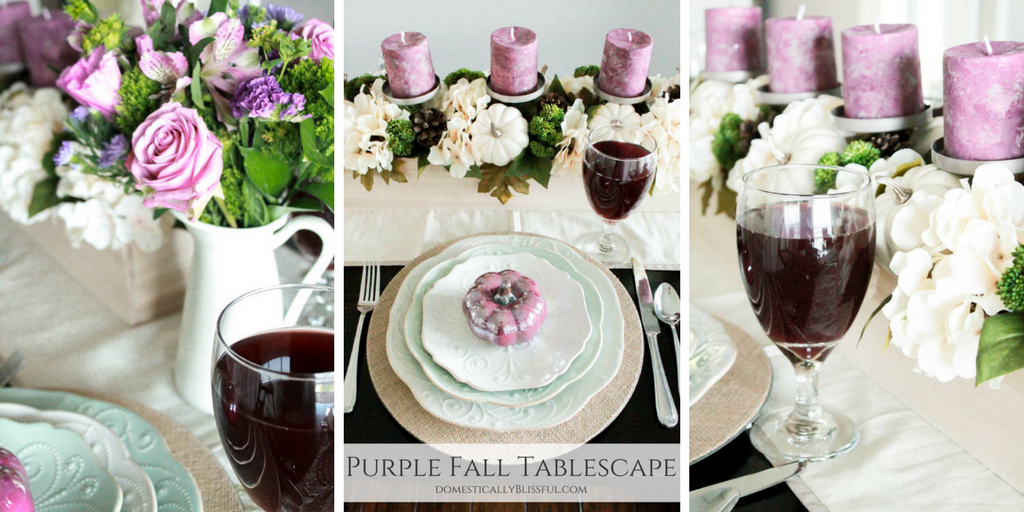 Purple Fall Tablescape