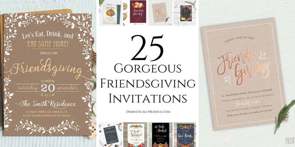 25 Gorgeous Friendsgiving Invitations