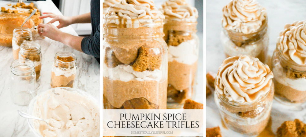 Pumpkin Spice Cheesecake Trifles