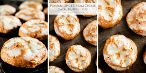 These Pumpkin Spice Cream Cheese Swirl Muffin Tops are the epitome of the perfect fall brunch treat as they fill your home with the tasty scent of fall!