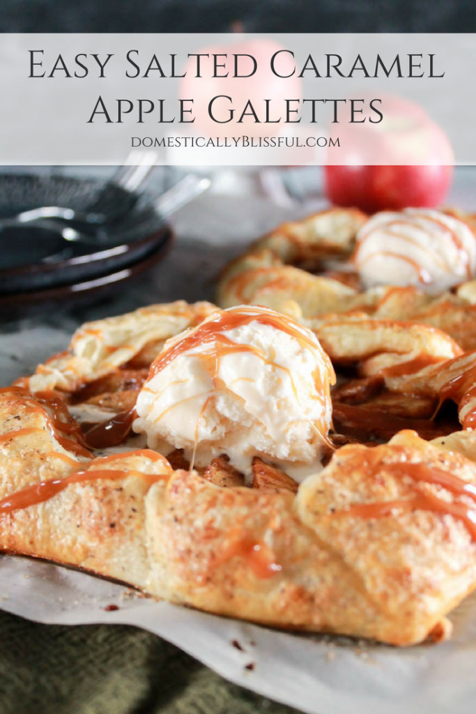 Easy Salted Caramel Apple Galette - Domestically Blissful