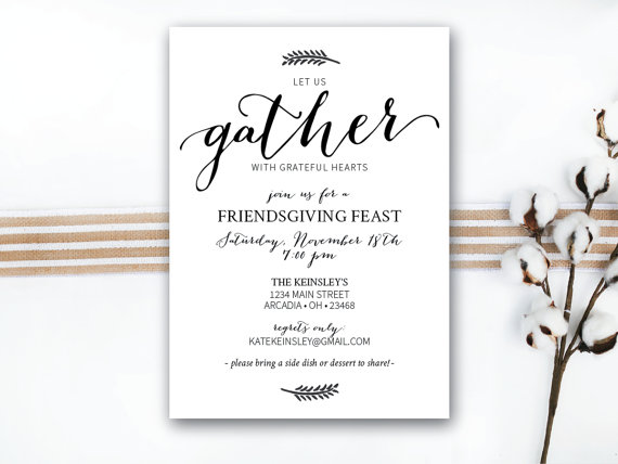 25 gorgeous friendsgiving invitations domestically blissful 25 gorgeous friendsgiving invitations for your annual friendsgiving gathering with all of your friends family stopboris Choice Image