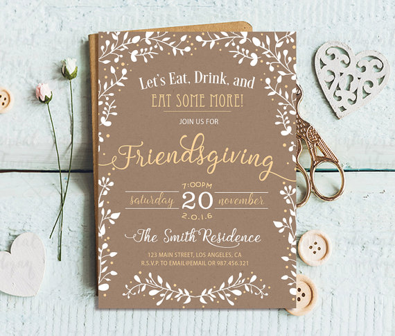 25 gorgeous friendsgiving invitations domestically blissful