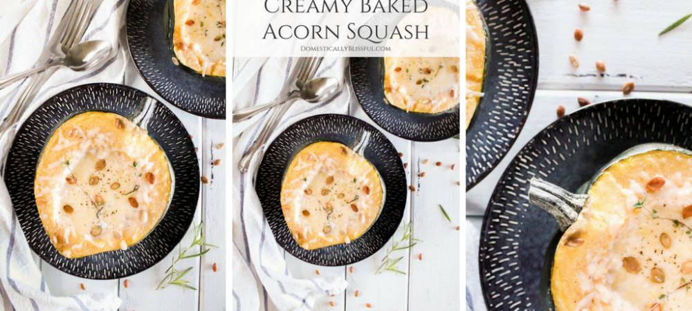 Creamy Baked Acorn Squash