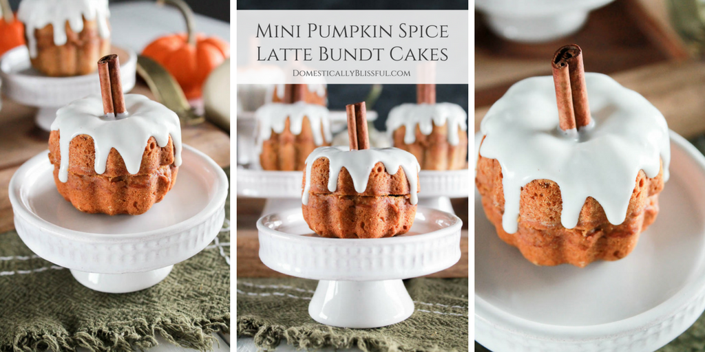 Mini Pumpkin Spice Latte Bundt Cakes