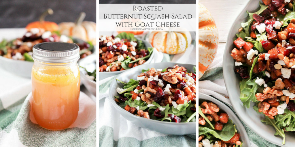 Roasted Butternut Squash Salad with Goat Cheese