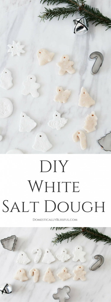 If you want to create white salt dough ornaments this Christmas you will love this DIY recipe for how to whitensalt dough!