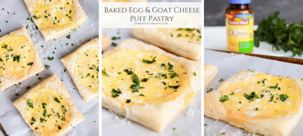 Baked Egg Goat Cheese Puff Pastry
