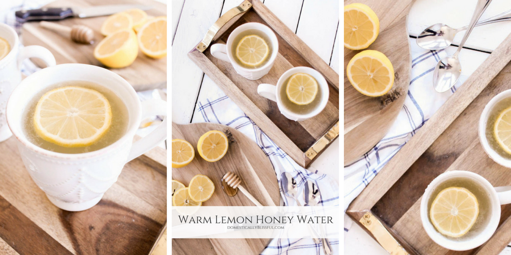 Warm Lemon Honey Water