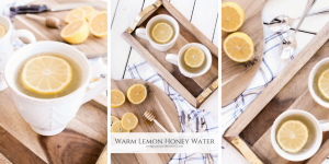 Warm Lemon Honey Water is the perfect drink to warm you up & soothe your sore throat on a cold winter day.