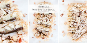 Nutella Puff Pastry Braid is filled with warm hazelnut flavor & perfect for brunch or dessert for any occasion.
