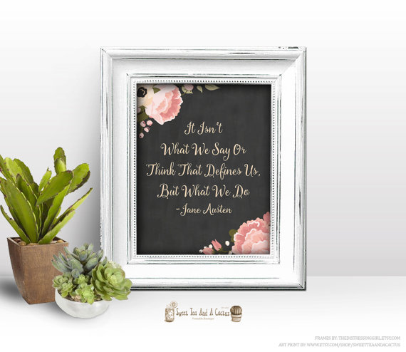 Jane Austen Quote Printable Wall Art