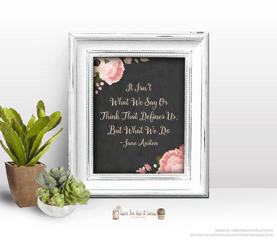 Jane Austen Quote Printable Wall Art