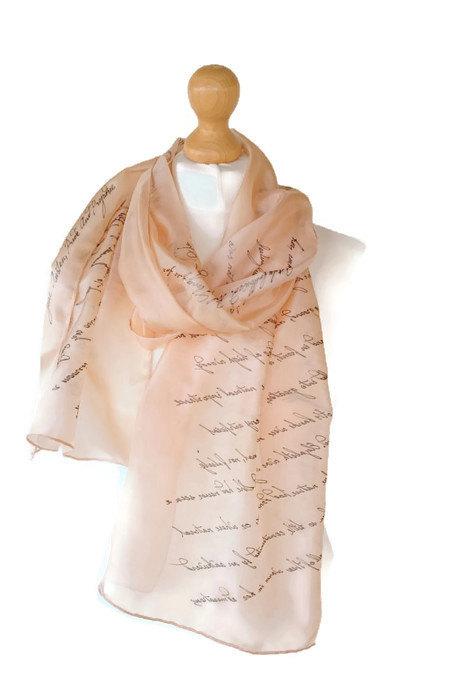 Jane Austen Quotes Scarf Pride & Prejudice Gift