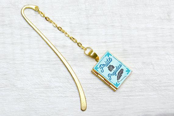 Pride & Prejudice Metal Bookmark Charm