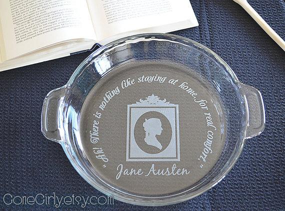 Jane Austen Inspired Pie Plate