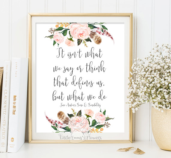 Printable Jane Austen Quote