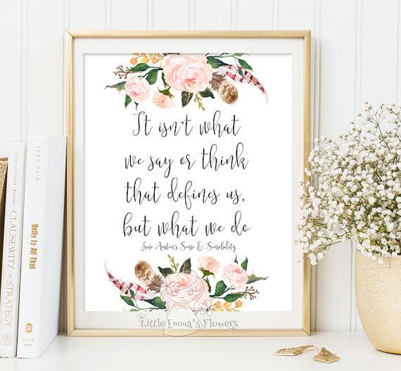Printable Jane Austen Quote