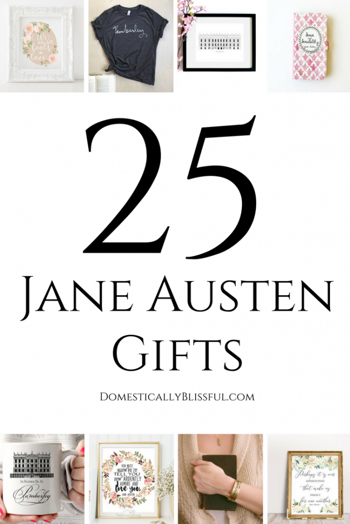 25 Jane Austen gifts you (& they) will love. These Austen inspired gifts are perfect for any occasion, whether it's a birthday, Valentine's day, an anniversary, Christmas, or just because!