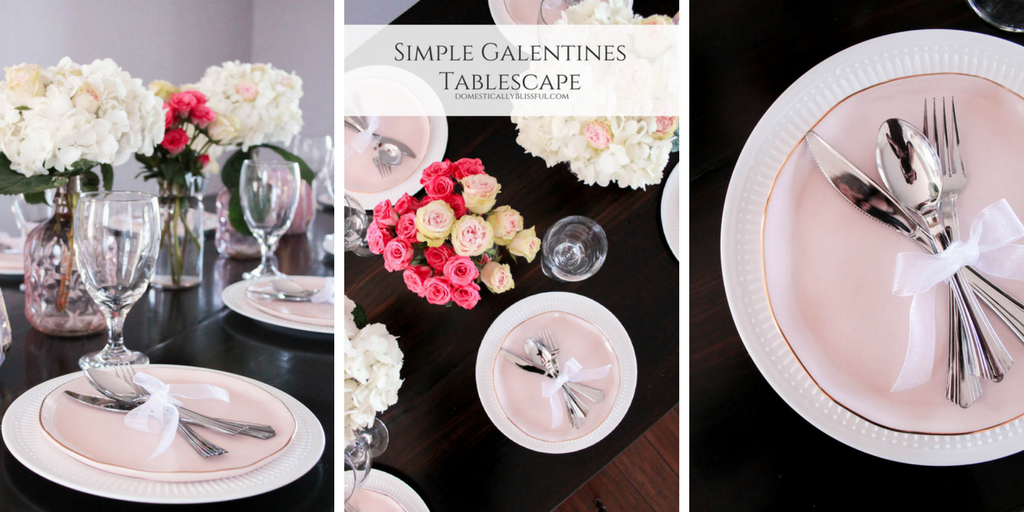 Simple Galentines Tablescape