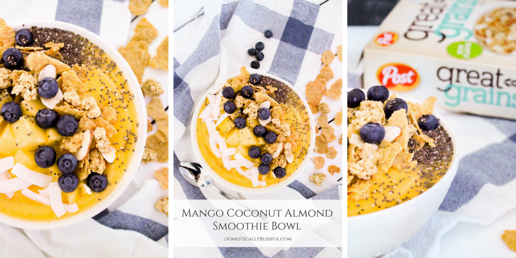 Mango Coconut Almond Smoothie Bowl