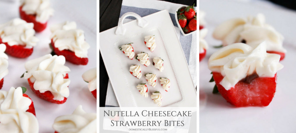 Nutella Cheesecake Strawberry Bites