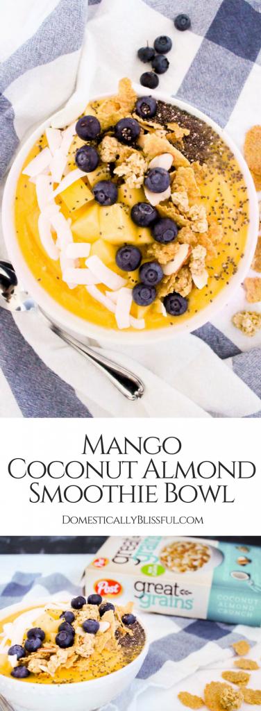 Mango Coconut Almond Smoothie