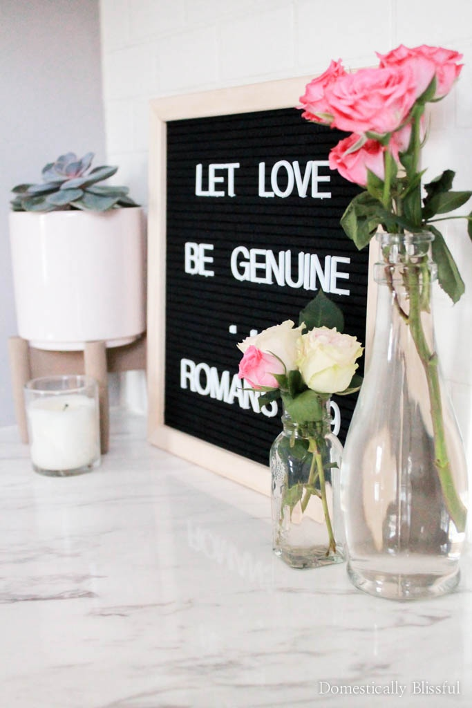 A littleValentine's Day decor home tour with quick tips on how to easily decorate your home with love.