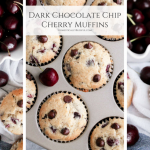 Dark Chocolate Chip Cherry Muffins