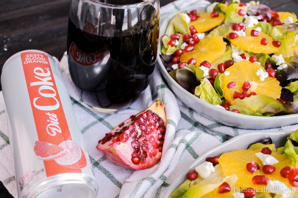 This fresh & colorful Orange Pomegranate Salad with honey orange dressing is a perfect dinner for two or can be enjoyed as a side dish for a family of four!