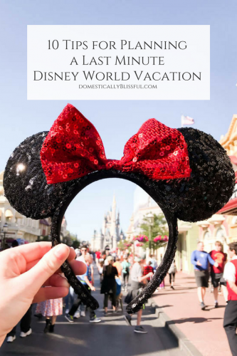 10 Tips for Planning a Last Minute Disney World Vacation