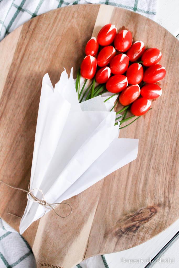 Cherry Tomato Tulip Bouquet