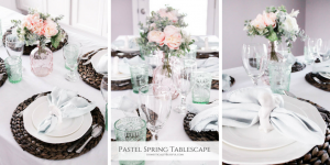 A lovely pastel spring tablescape to inspire your Easter decor this season.