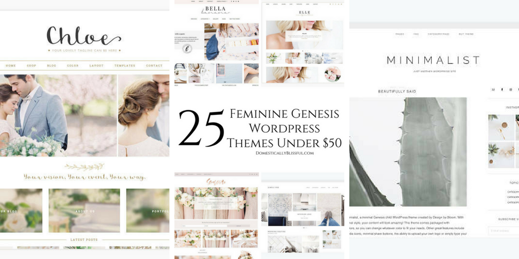 25 Gorgeous Feminine WordPress Themes Under $50