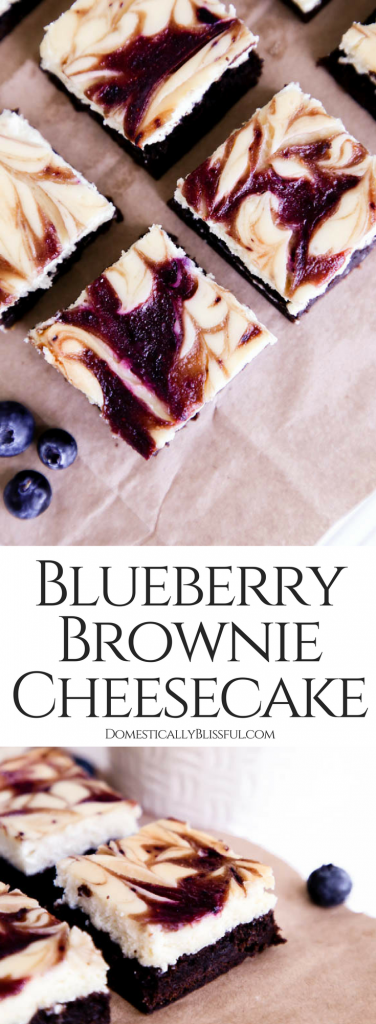 With a homemade creamy cheesecake, tangy fresh blueberries, & rich chocolate brownie these Blueberry Cheesecake Brownies are sure to be a hit at your next party!