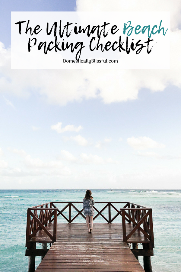 A free printable of the ultimate beach packing checklist to help you plan for fun in the sun!