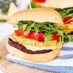 Whether you are a vegetarian or love Meatless Monday, this Grilled Pineapple Veggie Burgers recipe is perfect for your next cookout with friends & family.