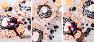 Enjoy your fresh berries this summer in a baked dessert in the form of this Blueberry Blackberry Galette. With a hint of lemon & topped with powdered sugar & ice cream, it is sure to be a sweet treat everyone will love at your next summer party!