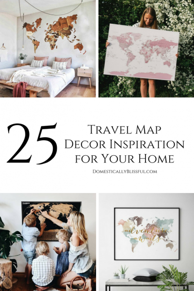 25 Travel Map Decor Inspiration for Your Home