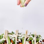 These Black Bean Sweet Potato Tacos are a fun way to add fall flavor to your favorite vegetarian Mexican dinner!