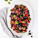 This Watermelon Berry Salad is full of fresh ingredients & is quick & simple to make this summer for any occasion!