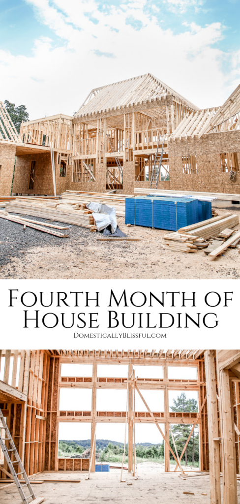Our fourth month of house building with a video update of our dream home that's almost finished being framed!!