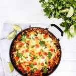 This One-Pot Mexican Rice Casserole is quick & easy to make plus it is full of fresh flavor & bright colors making it a tasty addition to your meatless Monday meal.