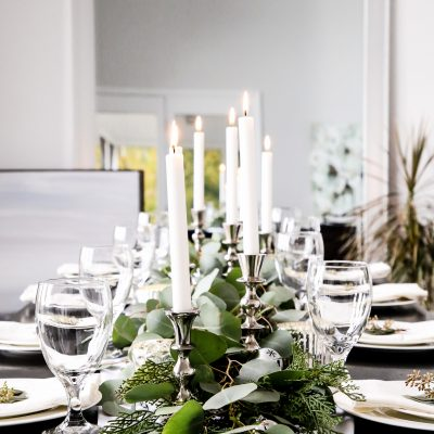 Silver Bell Tablescape
